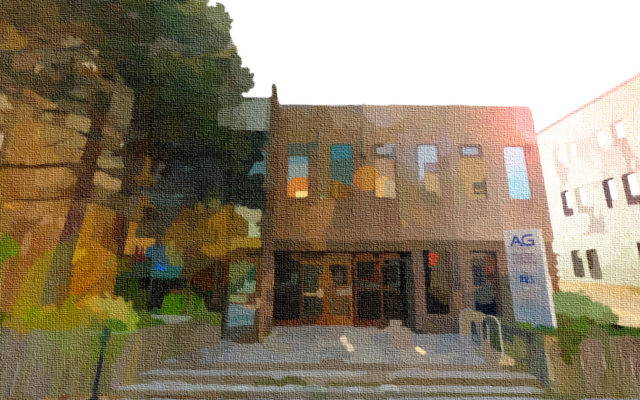 Stylized image of AG Research Office Building at 225 Charlotte Street