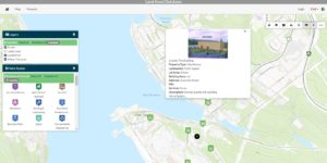 Screenshot of Capr Breton Partnership Land asset Database