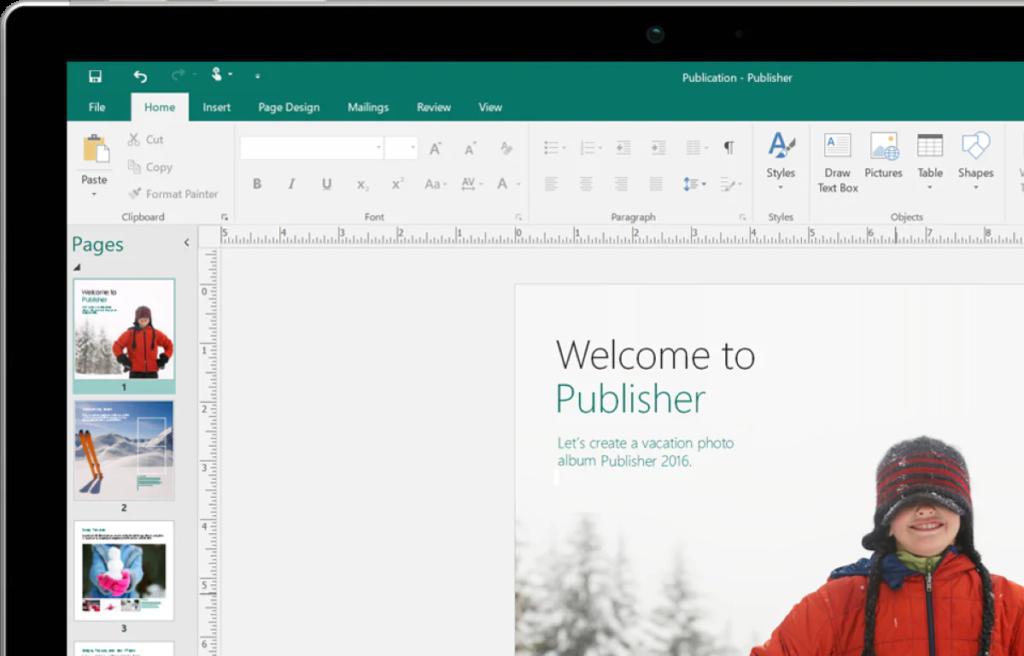Microsoft 365 Publisher - Desktop version screenshot