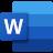 Microsoft 365 Word Logo