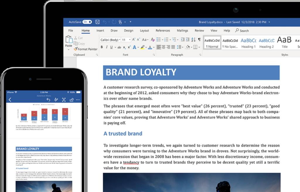 Microsoft 365 Word - Desktop version screenshot