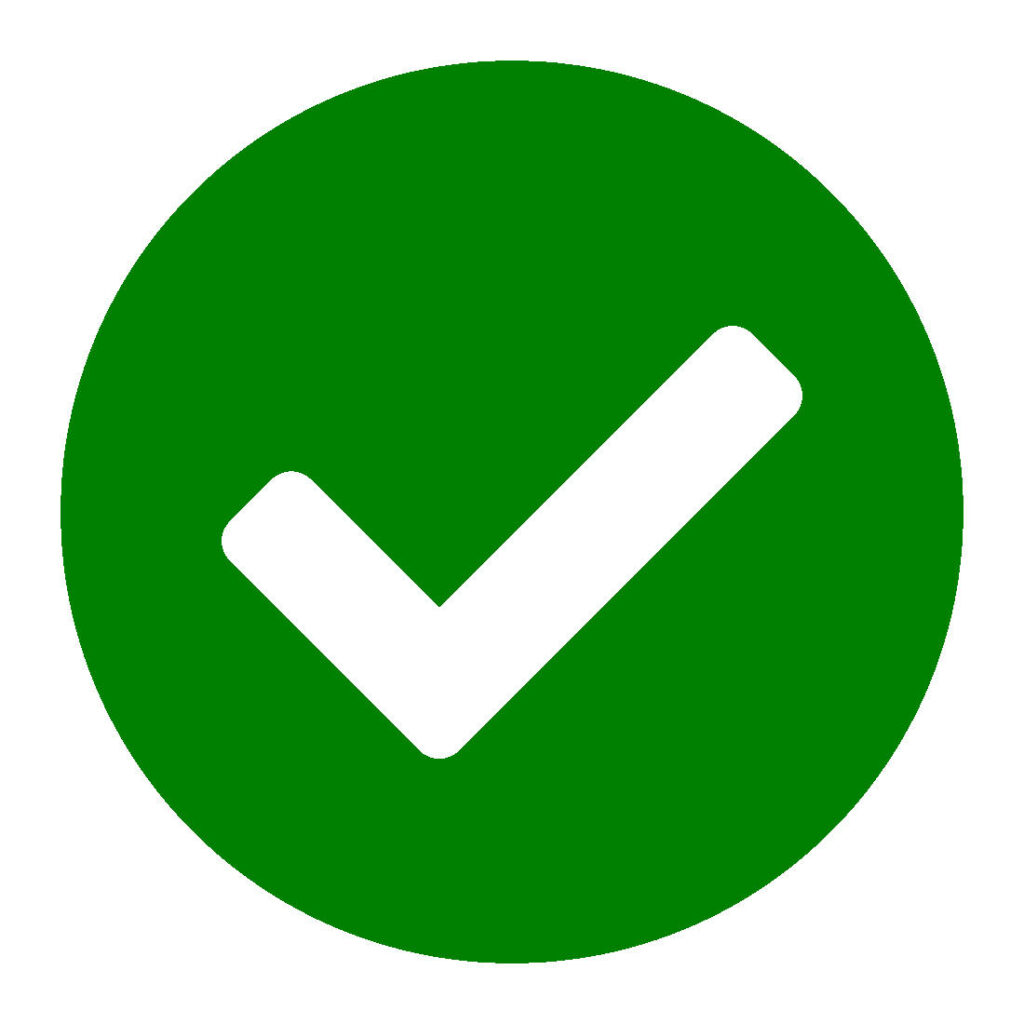 Green Circle with Check Mark